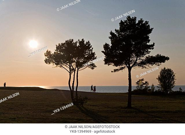 Sunset, Panga Cliff, Saare County, Estonia