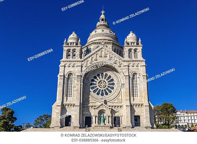Sanctuary of Santa Luzia and the Sacred Heart of Jesus in Viana do Castelo city in Minho Province, Portugal