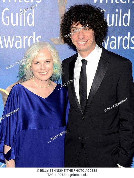 Laurie Parres attend the 2017 Writers Guild Awards L.A. Ceremony at The Beverly Hilton Hotel in Beverly Hills, California on February 19, 2017