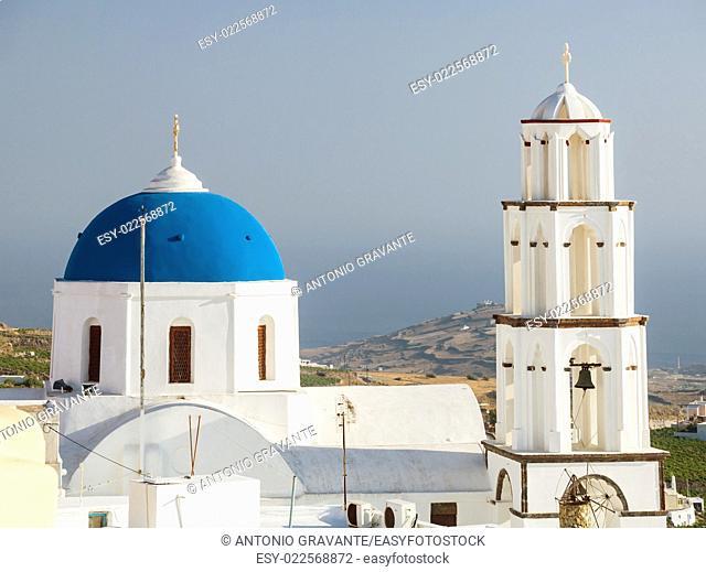 Theotokaki Church, Santorini island, Pyrgos, Greece