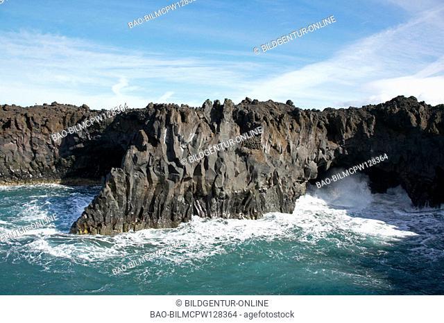 coast of Los Hervideros near El Golfo Lanzarote, Canary Islands, Spain