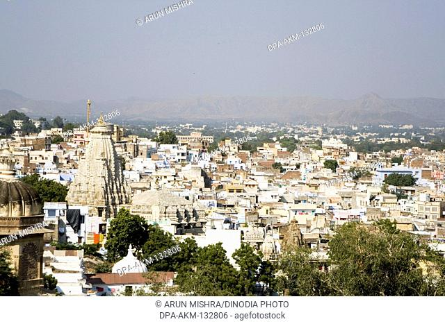 Top view of Udaipur ; Rajasthan ; India