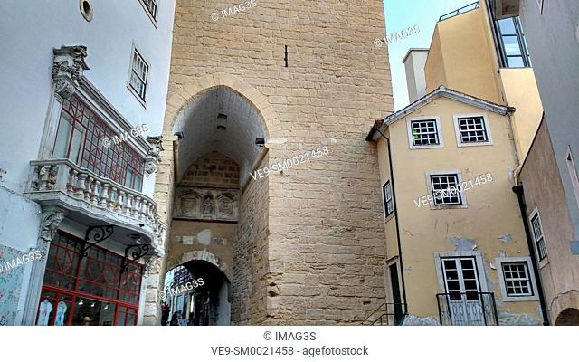 Gate and Tower of Almedina (11th-16th century), Coimbra, Centro. Portugal