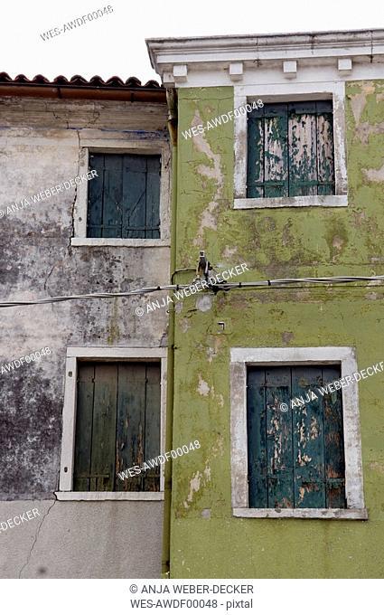 Itally, Venice, Burano, Old building