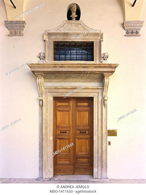 Palace of the Chancellery, first floor door (Palazzo della Cancelleria, porta del primo piano), by Barozzi Jacopo known as Vignola, 1558, 16th Century