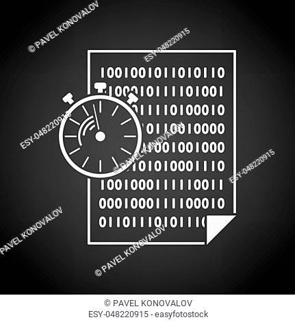 Fast Development Icon. White on Black Background Design. Vector Illustration