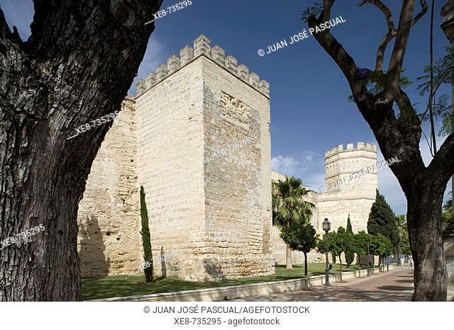 Arab walls, Jerez de la Frontera. Cadiz province, Andalucia, Spain