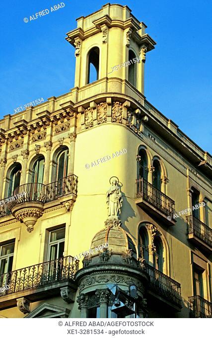 Casa Taberner, 1910, architect Antoni Coll, Boqueria street, Barcelona, Catalonia, Spain