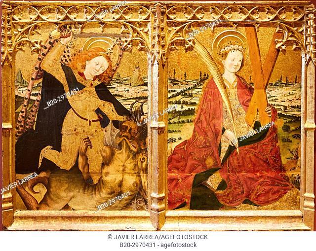Saint Michel et Sainte Eulalie, Pedro Garcia de Benanarre, Fine Arts Museum, Musée des Beaux-Arts, Dijon, Côte d'Or, Burgundy Region, Bourgogne, France, Europe