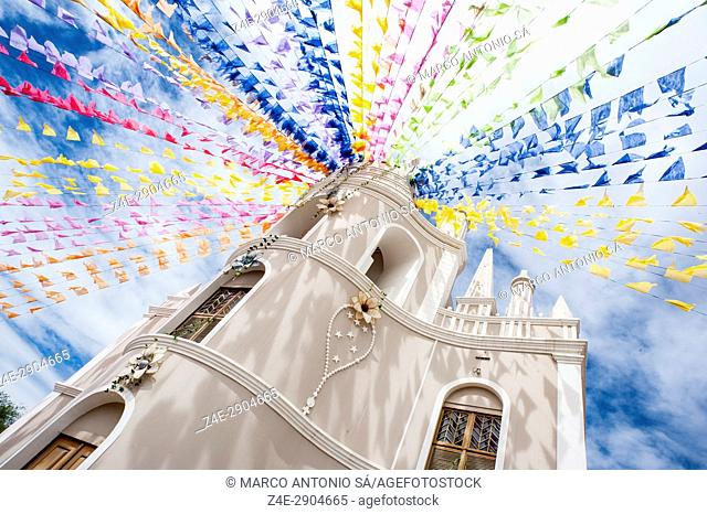 Feast of Saint Anthony - Church of Our Lady of the Rosary, decorated for the party - Barbalha - CE