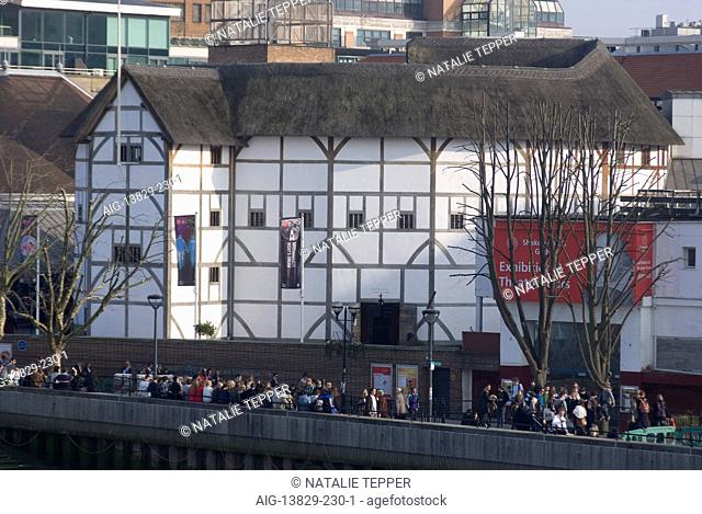Shakespeare's Globe Theatre, London, SE1, England