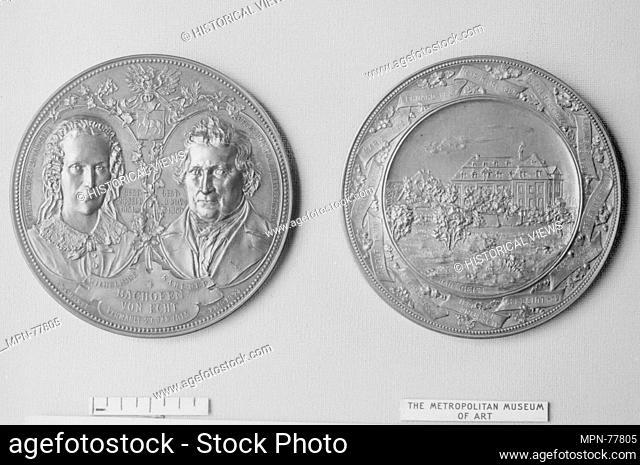 In Memory of Karl Nepomuk and Wilhelmine Bachofen von Echt, and Their Family. Artist: Medalist: Anton Scharff (Austrian, Vienna 1845-1902); Date: 1893; Culture:...