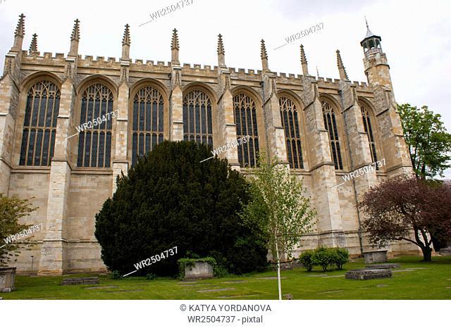 View of Eton College Chapel, Windsor, England
