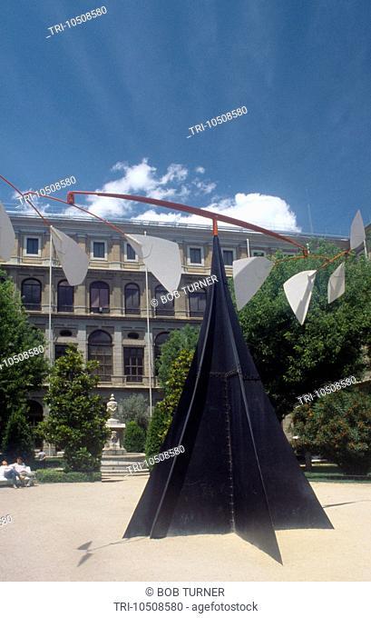 Madrid Spain Centro de Arte Reina Sofia Sculpture Calder in Courtyard