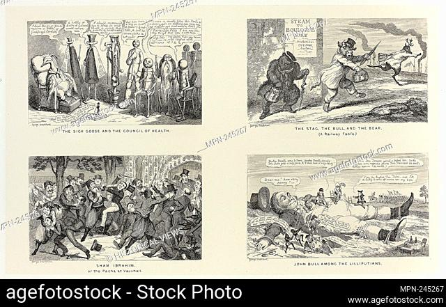 The Sick Goose and the Council of Health from George Cruikshank's Steel Etchings to The Comic Almanacks: 1835-1853 (top left) - 1847, printed c