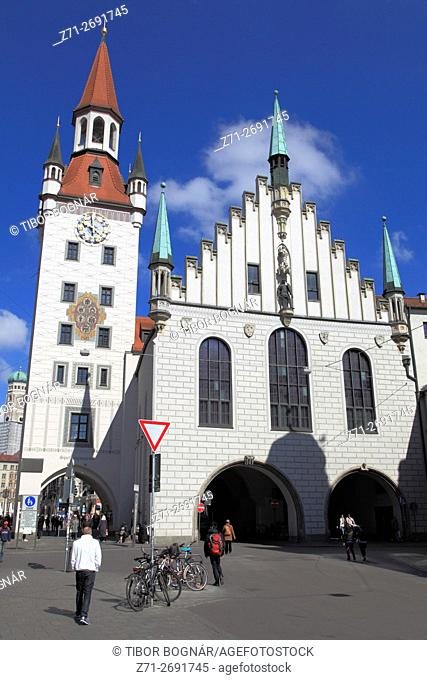 Germany, Bavaria, Munich, Old Town Hall, Altes Rathaus,