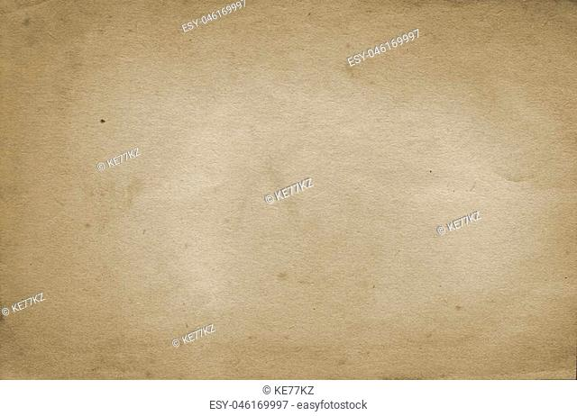 Yellowed old paper background. Natural old paper texture for the design