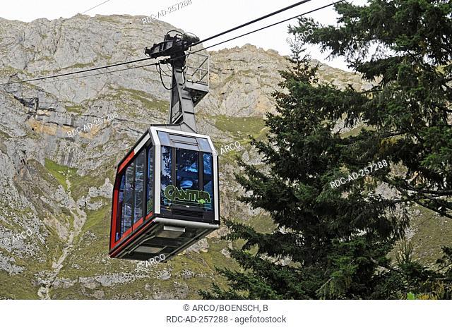 Cable railway Teleferico de Fuente De Camaleno near Potes national park Picos de Europa mountain range Picos de Europa Cantabria Spain