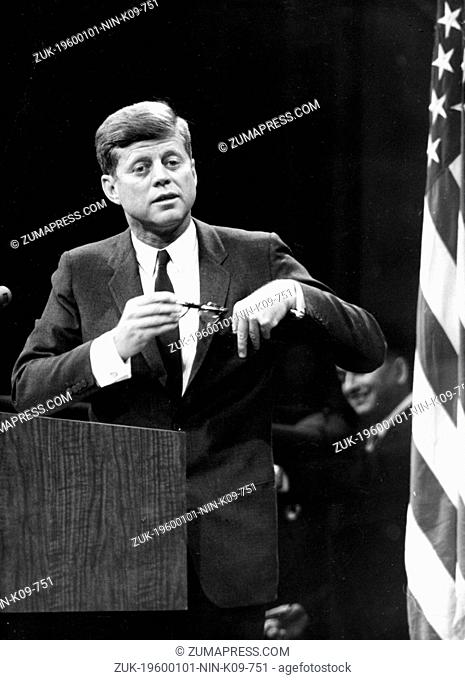 Jan. 1, 1960 - Washington D.C., U.S. - JOHN F. KENNEDY was the youngest person elected U.S. President and the first Roman Catholic to serve in that office