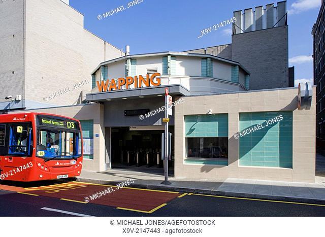 Wapping Station, London Overground Railway, London
