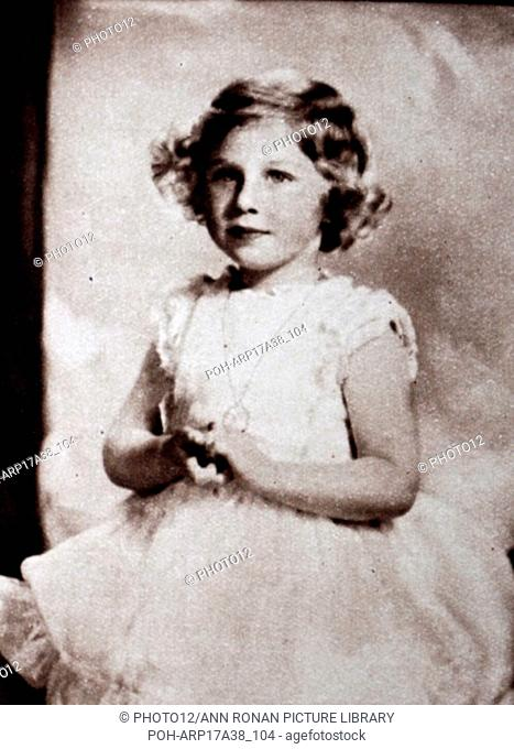 Photographic portrait of a young Princess Margaret (1930-2002) the younger sister of Queen Elizabeth II (1926-). Dated 20th Century