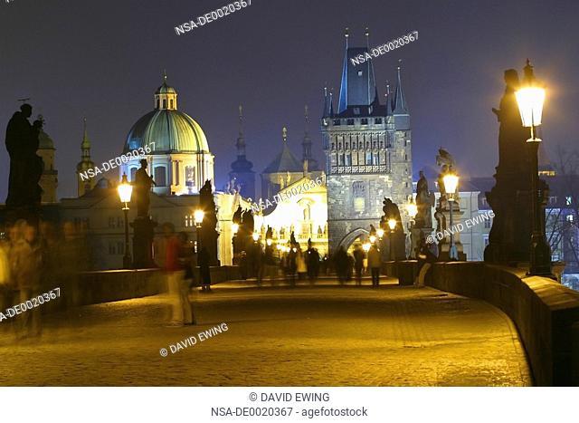 The Charles Bridge at night, Prague