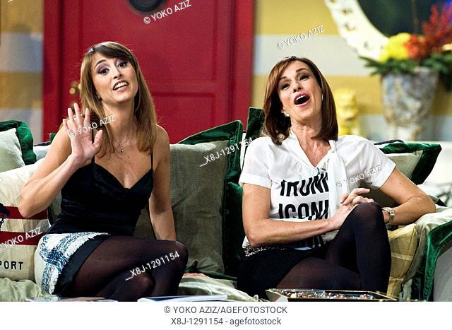 Benedetta and Cristina Parodi, Kalispera telecast, Canale 5, Milan, Italy, 2010