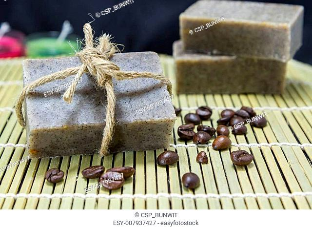 Coffee scrub soap for spa