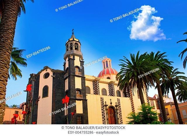 La Orotava Concepcion church red dome in Tenerife Canary Islands
