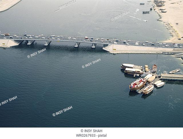 Aerial View of Dubai Creek
