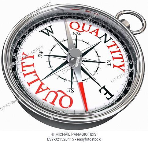 quality versus quantity conceptual image