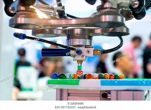 robot working in factory, Controler of robotic hand