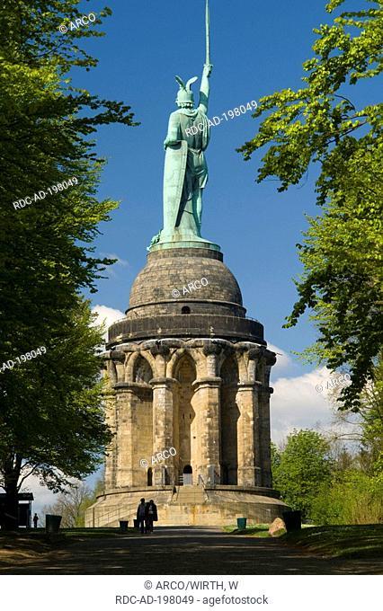 Hermann monument by Ernst von Bandel, near Detmold, Teutoburg Forest, North Rhine-Westphalia, Germany
