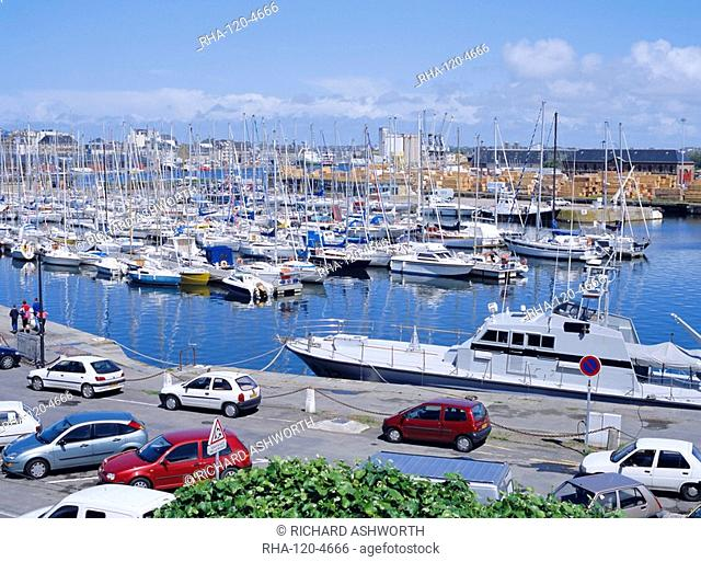 Yacht harbour east of the old town of St. Malo, Brttany, France