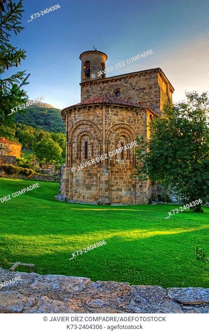 Romanesque Collegiate Church (12th Century). San Martin de Elines. Valderredible. Cantabria. Spain