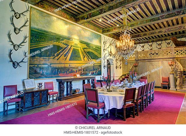 France, Maine et Loire, Brissac Quince, Chateau de Brissac, the dining room
