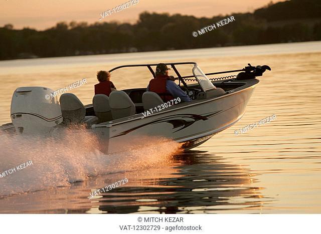 Running Boat On Lake