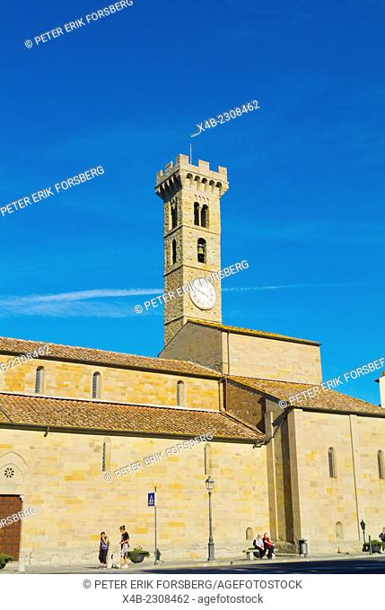Cattedrale di San Romolo, cathedral, Piazza Mino, Fiesole, near Florence, Tuscany, Italy