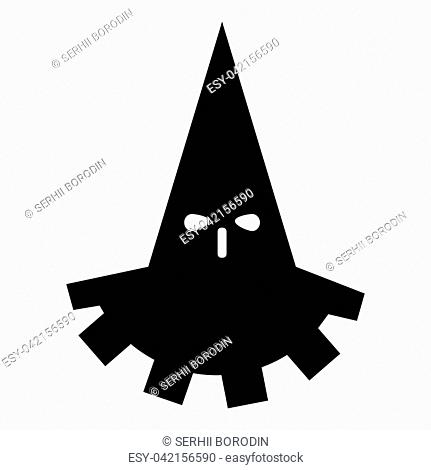 Executioner hangman icon black color vector illustration flat style simple image