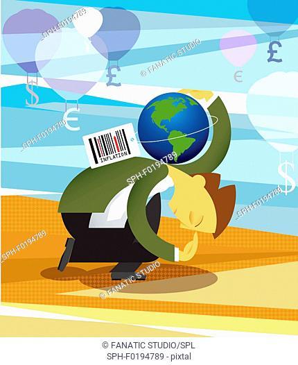 Conceptual illustration representing inflation