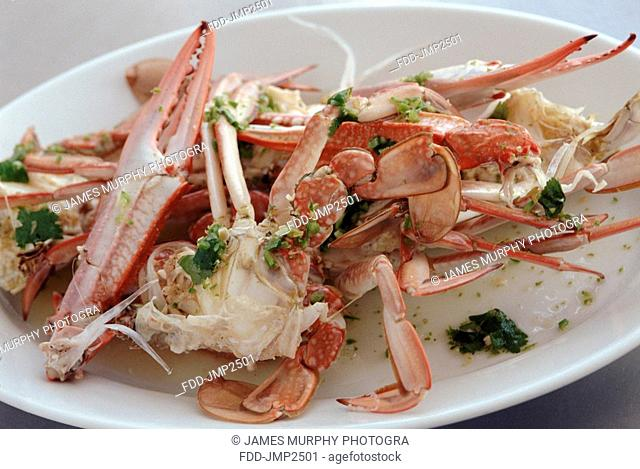 Steamed Crab with Lemon Grass Dressing