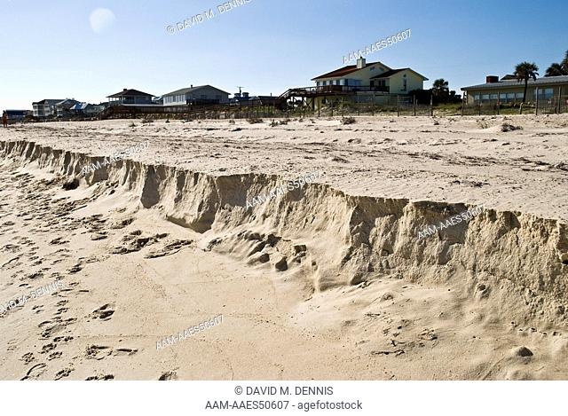 Beach Erosion caused by heavy wave action, St. George Island , FL