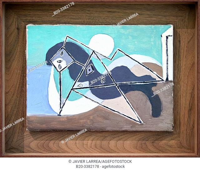 """Female Nude Reclining in the Sun on the Beach"", 1932, Pablo Picasso, Picasso Museum, Paris, France, Europe"