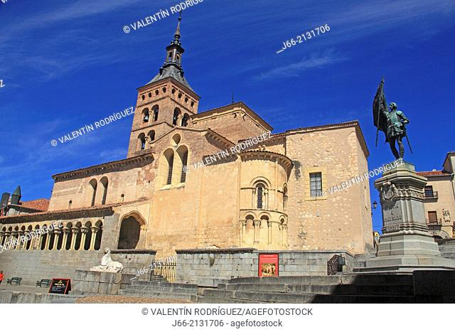 Church of St. Martin, Romanesque church. Segovia