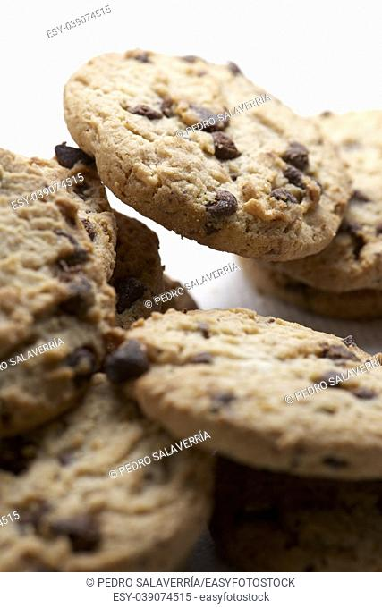 Group of chocolate chips cookies