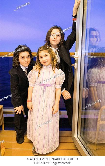 Kids on cruise in formal wear