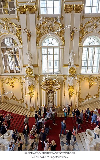 Principal stairway in the Hermitage (St. Petersburg)