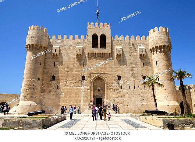 Citadel of Qaitbay, also known as Fort of Qaitbay, Alexandria, Egypt