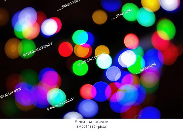 Diagonal color blobs bokeh background hd