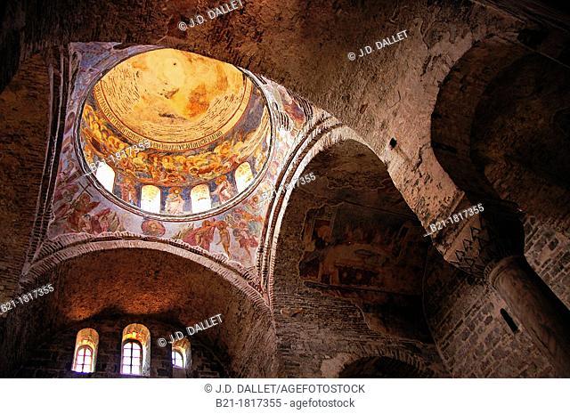 Wall paintings on the ceiling, Hagia Sophia (Church of Saint Sophia), Trabzon, Turkey